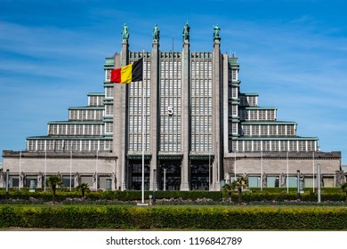 BELGIUM,BRUSSELS -SEPTEMBER 29,2018:Exhibition Center.Complex has 12 exhibition halls including 5 which date back to the 1935 World Expo, with a surface area of 3,000 to 13,000 m2.