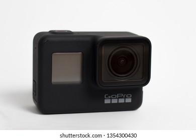 Belgrad, Serbia - Mart, 30 2019: GoPro Hero 7 Black action camera