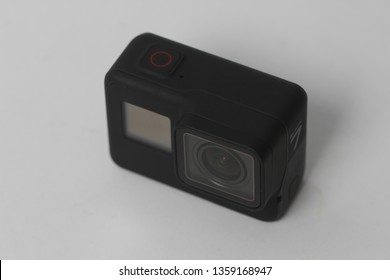 Belgrad, Serbia - Mart, 30 2019: GoPro Hero 7 black action camera isolated on the white background.