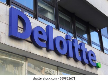 Belgrade February 16, 2017. Deloitte is  multinational professional services firm.  It was founded in 1845 in London and employs more than 244.400 workers worldwide.