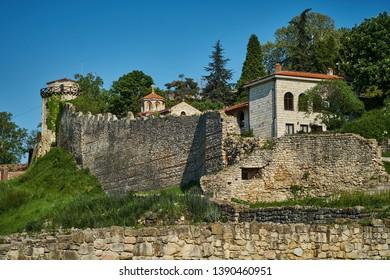 Belgrade Fortress (Kalemegdan), famous landmark of Belgrade, capital of Serbia, in vibrant spring colors