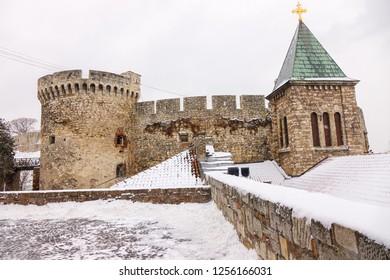 Belgrade fortress under the snow