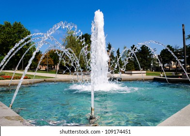 Belgrade fountain in Tasmajdan park
