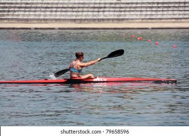 BELGRADE - JUNE 18: European Senior Canoe Sprint Championship June 18, 2011 in Belgrade, Serbia.