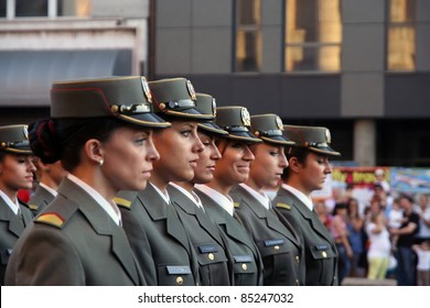 BELGRADE - SEPTEMBER 10: The Graduation ceremony for cadets of the 131st and 132nd of the Serbian Military Academy class on September 10, 2011 in Belgrade, Serbia.