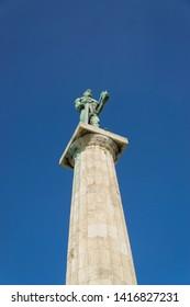 BELGRADE, SERBIA - 01, JUNE 2019 : Monument Victor on Kalemegdan fortress in Belgrade.