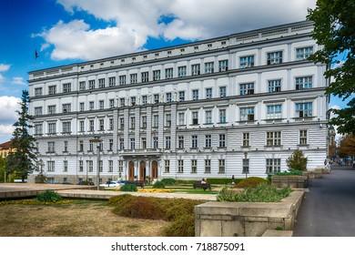 Belgrade, Serbia 07/09/2017: Building of the Ministry of Finance in Belgrade