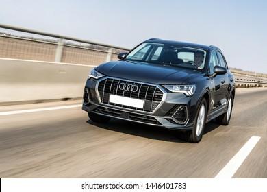 Belgrade, Serbia - 10 April 2019 - New Audi Q3 S line, model year 2019