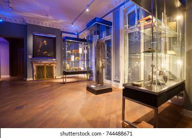 BELGRADE, Serbia - 5 Sept: The interior of the Nikola Tesla Museum in Belgrade on 5 Sept 2017.