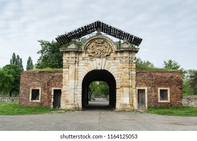 Belgrade, Serbia, April 30th, 2017: The Gate of Carlo VI Kalemegdan, in kalemegdan fortress in Belgrade, built in 1736 in the honour of the tsar Carlo VI
