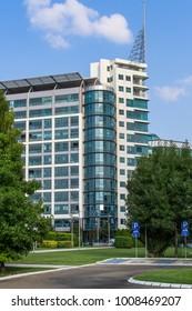 Belgrade, Serbia August 15, 2014: Business building in Belgrade