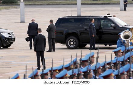 BELGRADE, SERBIA - AUGUST 16TH 2016: Secret service agents secure US vice president during his visit to Serbia, August 16. 2016. in Belgrade