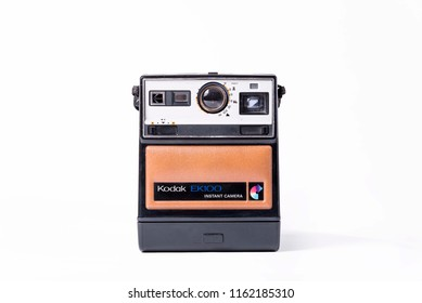 BELGRADE, SERBIA , AUGUST 22 2018: Kodak ek100 polaroid camera isolated on white. Retro camera isolated. Vintage camera isolated