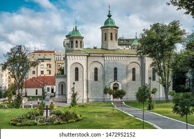 Belgrade / Serbia - August 4, 2019: Church of the Ascension (Vaznesenjska crkva), a Serbian Orthodox church in downtown Belgrade, the capital of Serbia