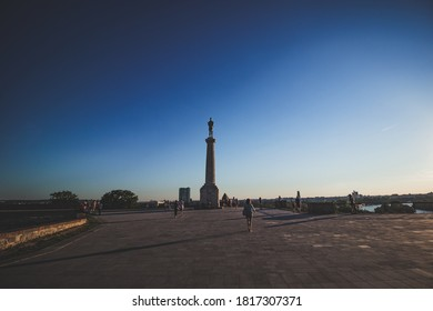 Belgrade / Serbia - August 30, 2020: The Victor (Pobednik) monument in the Upper Town of the Belgrade Fortress