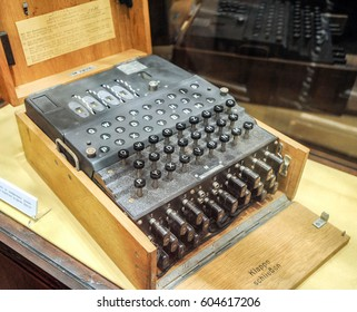 BELGRADE, SERBIA - CIRCA DECEMBER 2010: Nazi German World War two decoding machine Enigma on display in military museum, circa December 2010 in Belgrade