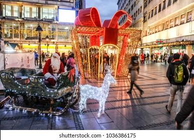 BELGRADE, SERBIA - CIRCA DECEMBER 2016: Belgrade capital city of Serbia streets in December 2016