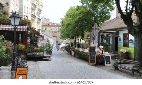 BELGRADE, SERBIA - CIRCA MARCH 2017 - Skadarlija is the bohemian quarter with lot of restaurants and art galleries, circa March 2017 in Belgrade