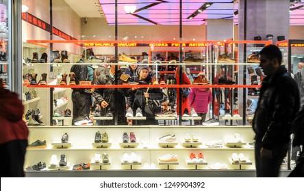 BELGRADE, SERBIA - CIRCA NOVEMBER 2018: Byers shopping in fashion store in Belgrade