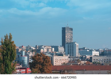 Belgrade, Serbia – CIRCA October 2015: View on Belgrade buildings