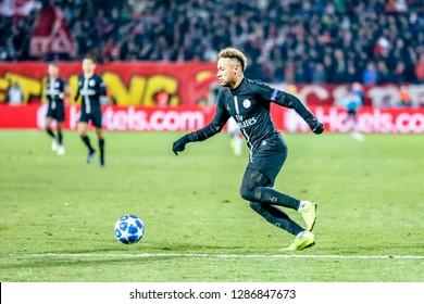 Belgrade, Serbia - December 11, 2018; Neymar da Silva Santos Junior playing on a UEFA Champions League match Red Star vs Paris Saint Germain on December 11, 2018 in Belgrade
