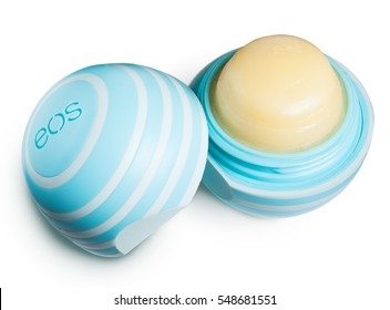 BELGRADE, SERBIA - December 23, 2016: EOS Lip Balm.