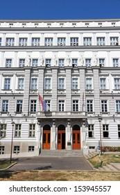 Belgrade, Serbia - governmental building exterior. Ministry of Finance.