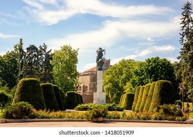 Belgrade, Serbia - July 2, 2014: Monument of Gratitude to France in Belgrade's Veliki Kalemegdan Park.