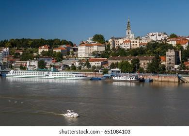 BELGRADE / SERBIA - JULY 2014: A view to Belgrade, Serbia