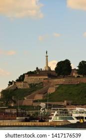 Belgrade, Belgrade / Serbia - June 1 2019: The Victor monument Fortress Kalemegdan Park