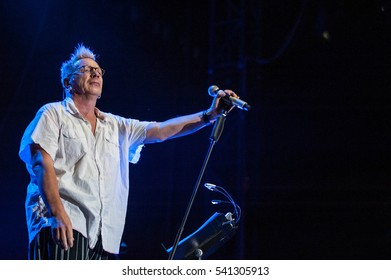 Belgrade, Serbia - June 29th: Forntman John Lydon of British band Public Image Limited performing on Belgrade Calling festival on June 29th 2012, in Belgrade, Serbia