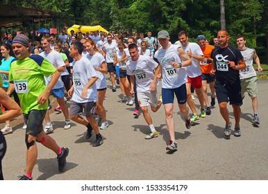 Belgrade, Serbia - Kosutnjak Challenge Race, May 2015: Crowd on adrenaline street race
