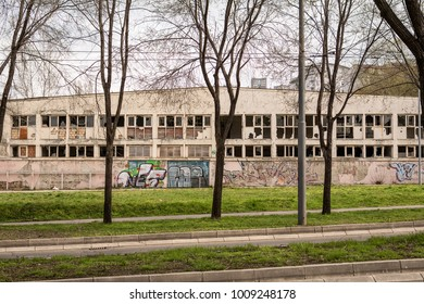 Belgrade, Serbia March 03, 2016: Abandoned factory