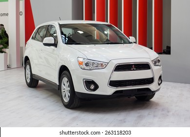 Belgrade, Serbia - March 19, 2015:  Mitsubishi ASX presented at Belgrade 52nd International Motor Show - MSA (OICA), press day.