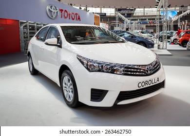 Belgrade, Serbia - March 19, 2015: Toyota Corolla presented at Belgrade 52nd International Motor Show - MSA (OICA), press day.