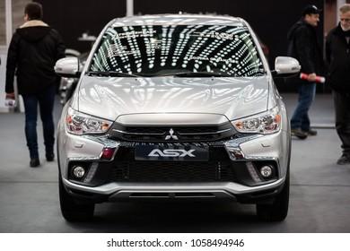 Belgrade, Serbia - March 23, 2018: New Mitsubishi ASX presented at Belgrade Car Show