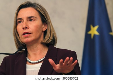 Belgrade, Serbia, March 3. 2017.  EU foreign policy chief Federica Mogherini, speaks during a meeting with Serbian Prime Minister in capital Belgrade