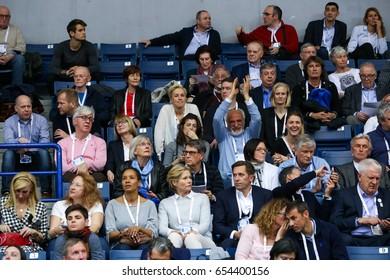 BELGRADE, SERBIA - MARCH 3-5, 2017: Audience, European Athletics Indoor Championships in Belgrade, Serbia