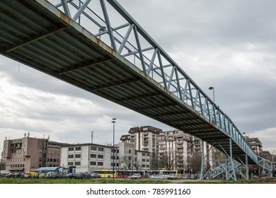Belgrade, Serbia Marth 03, 2016: Overpass construction