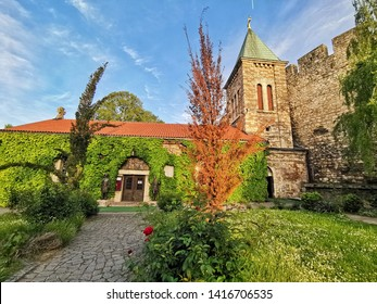 Belgrade, Serbia - May 14, 2019: Ruzica Church is a Serbian Orthodox church located in the Belgrade Fortress at Kalemegdan Park. Kalemegdan Park is the most important historical monument in Belgrade.