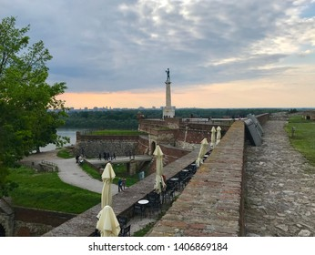 Belgrade, Belgrade / Serbia - May 20 2019: The Victor Monument Fortress Kalemegdan Park