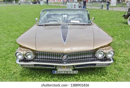 BELGRADE, SERBIA - MAY 24 2015: 1960 Buick Electra 225 Convertible oldtimer car