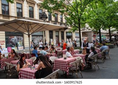 Belgrade, Serbia. May 27th 2019 Belgrade Cafe Culture in the Serbian Capital