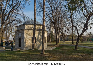 BELGRADE, SERBIA - NOVEMBER 10, 2018: Damad Ali Pasha turbe at Belgrade Fortress and Kalemegdan Park in the center of city of Belgrade, Serbia