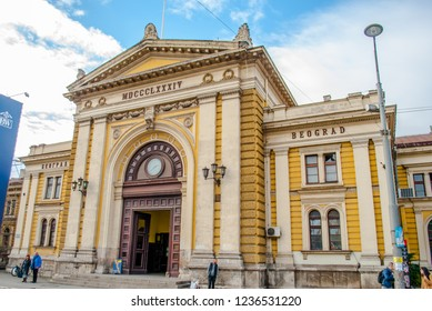 Belgrade, Serbia - October 25, 2018: Belgrade Main Railway Station