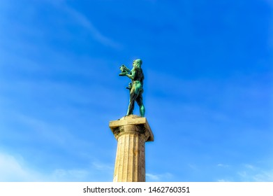 BELGRADE, SERBIA, October 27 2017: The Winner, famous monument located at old fortress in Belgrade, Serbia.