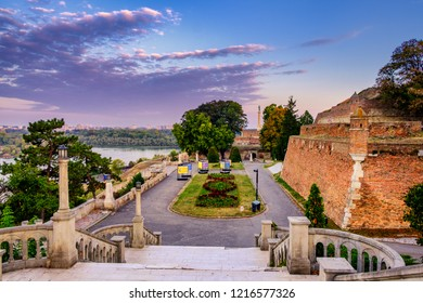 Belgrade / Serbia - October 6th 2018: Belgrade Fortress (Kalemegdan) in Serbian capital Belgrade