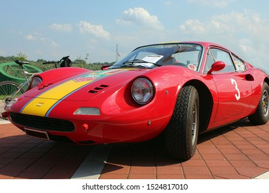 Belgrade, Serbia - September 12, 2015: Classic Ferrari on the exhibition of classic cars in Belgrade Serbia for collecting money for prostate cancer examination