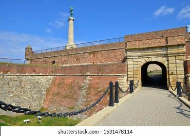 BELGRADE, SERBIA - SEPTEMBER 4: Kalemegdan fortress in the city of Belgrade, on September 4.2019. in Belgrade, Serbia