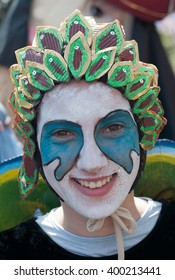 "BELGRADE-APRIL 3:Unidentified participant of carnival on "" The 4th.Rakovica International Carnival 2016"", on April 3, 2016 in Belgrade, Serbia."